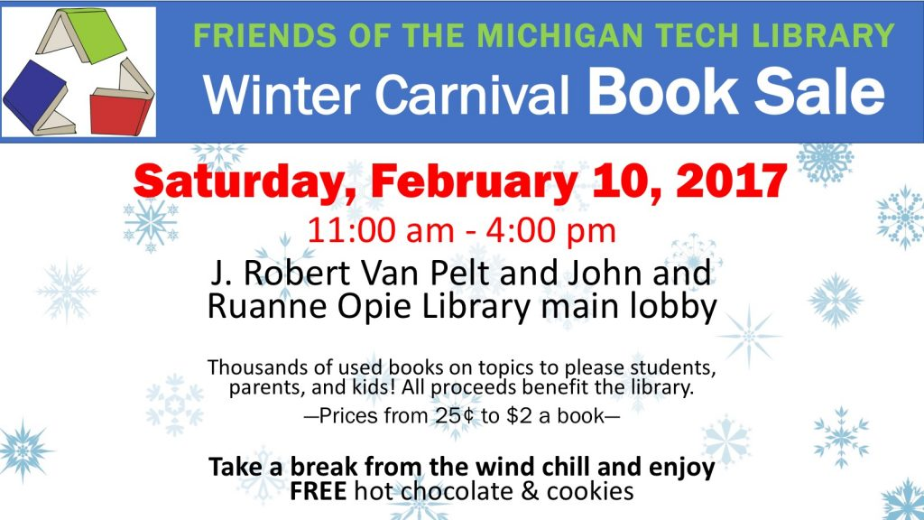 Winter Carnival Book Sale EDS sign