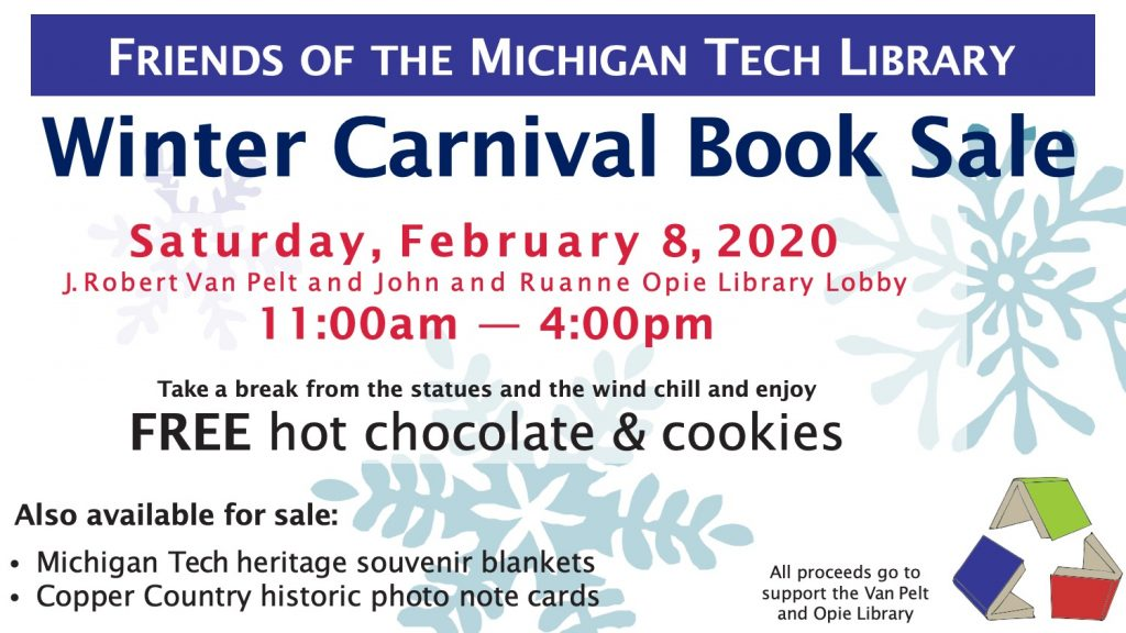Flyer for Winter Carnival Book Sale